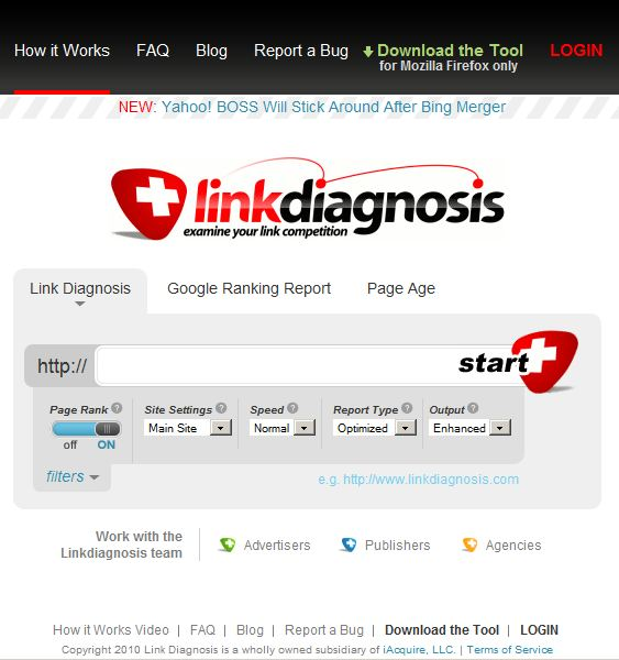 link diagnosis screenshot