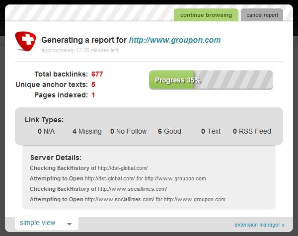 link diagnosis screenshot 2