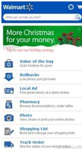 Walmart's Mobile Site