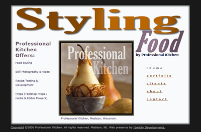 Professional Kitchen Homepage
