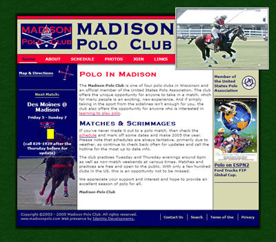Madison Polo Club Homepage 2005.